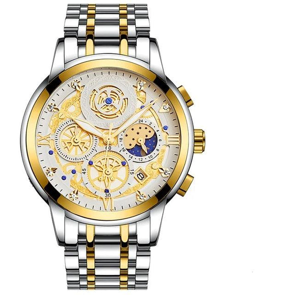 2021 New Fashion Men's Watch Stainless Steel Watch_1