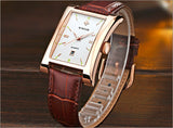 New Luxury Brand Quartz Wristwatch leather Strap_4
