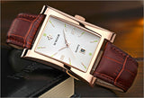 New Luxury Brand Quartz Wristwatch leather Strap_5