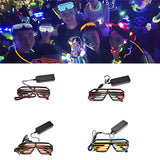 Halloween Wire LED Fluorescent Luminous Eye Glasses_10