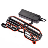 Halloween Wire LED Fluorescent Luminous Eye Glasses_8