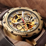 Bronze Skeleton Mechanical Watch_1