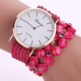 Cute White Women Diamond Wristwatch_3
