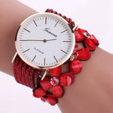 Cute White Women Diamond Wristwatch_8