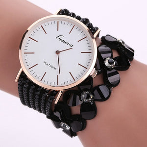 Cute White Women Diamond Wristwatch_1