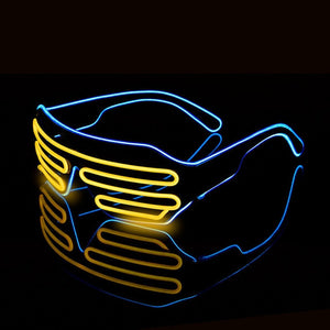Halloween Wire LED Fluorescent Luminous Eye Glasses_1