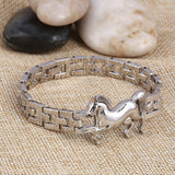 Fashion Punk Horse Stainless Steel Charm bracelet_2