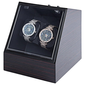 Wooden Auto Silent Mechanical Watch Winder Box_1