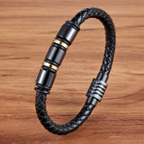 Black Gold Stainless Steel Magnetic Button Bracelet_8
