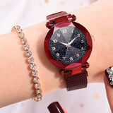 Fashion Watches Women With Magnetic Strap Buckle_6