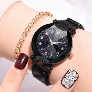 Fashion Watches Women With Magnetic Strap Buckle_1