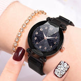 Fashion Watches Women With Magnetic Strap Buckle_5