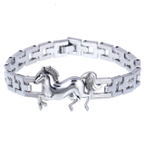 Fashion Punk Horse Stainless Steel Charm bracelet_1