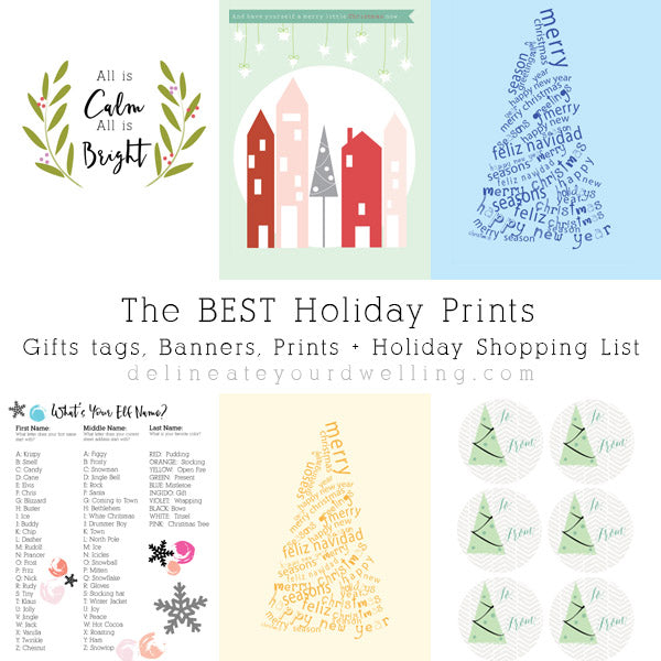 Holiday Shopping List + Festive Christmas Prints