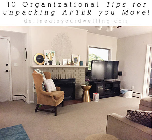 Organizational Tips PDF checklist for after you move