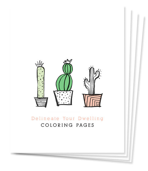 Delineate Your Dwelling Bundled Coloring Pages