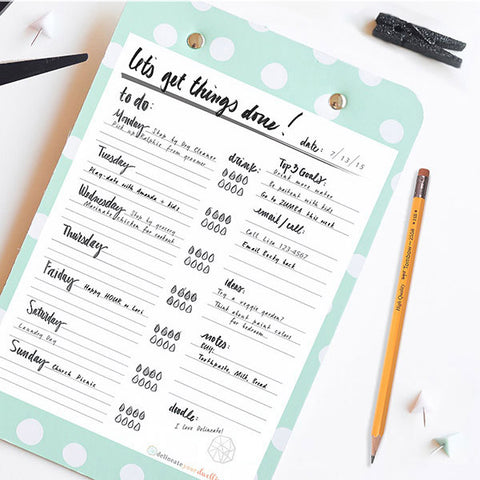 Hand Lettered To-Do List