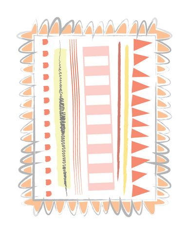 Orange Lines graphic print