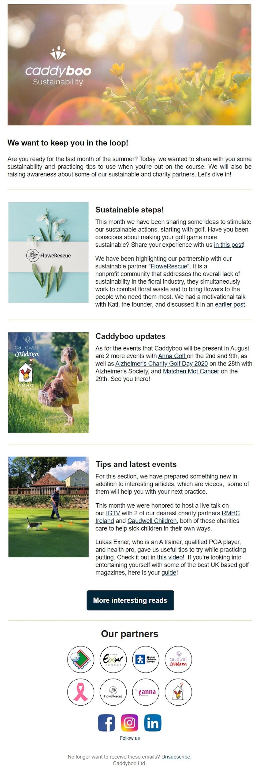 caddyboo newsletter