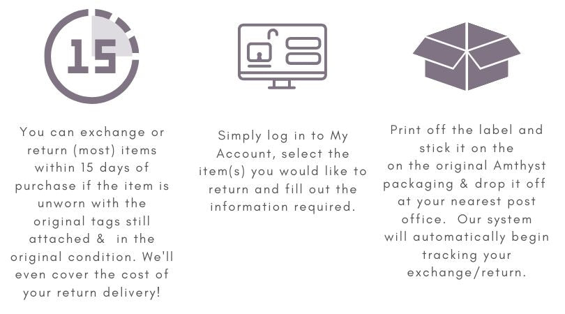Return Policy for Amthyst Boutique