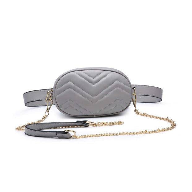 Chevron Fanny Pack in Taupe - Amthyst Co.
