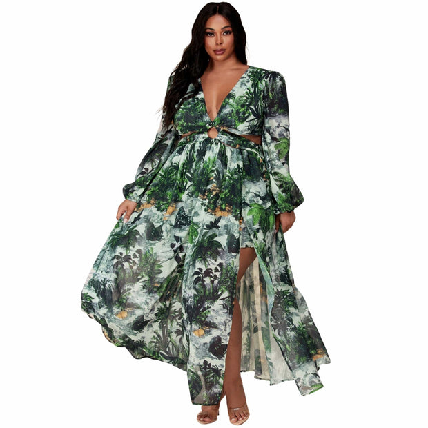 plus size maxi dresses sleeves