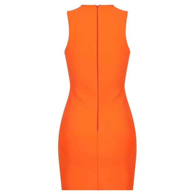 Chloe Orange Mini Dress