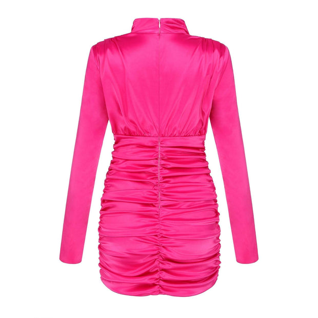 Fiona Hot Pink Mini Dress - Amthyst Co.