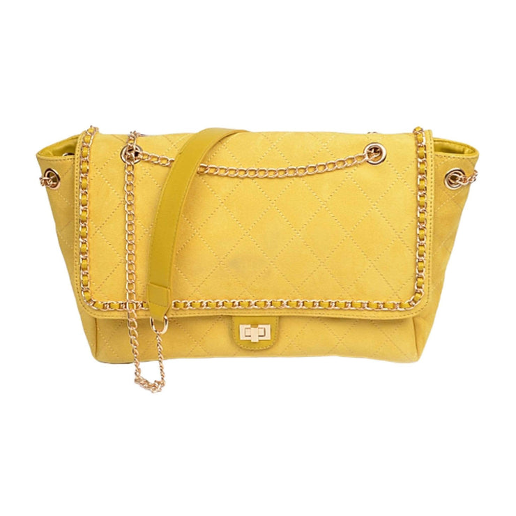 yellow crossbody handbag