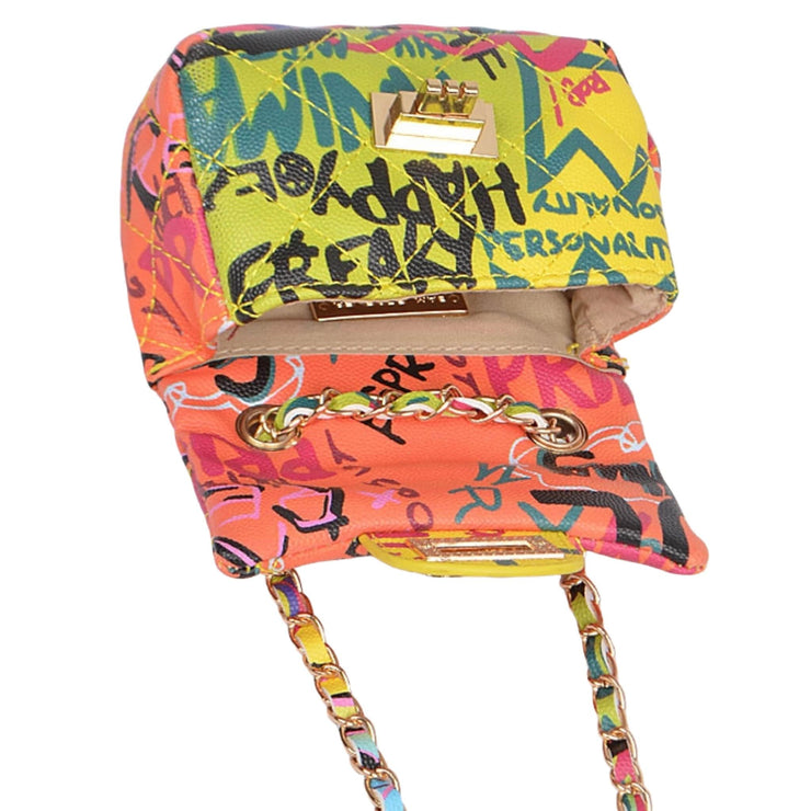 trendy graffiti handbag