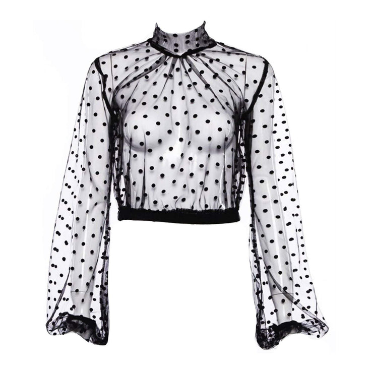 Paola Mesh Blouse - Amthyst Co.