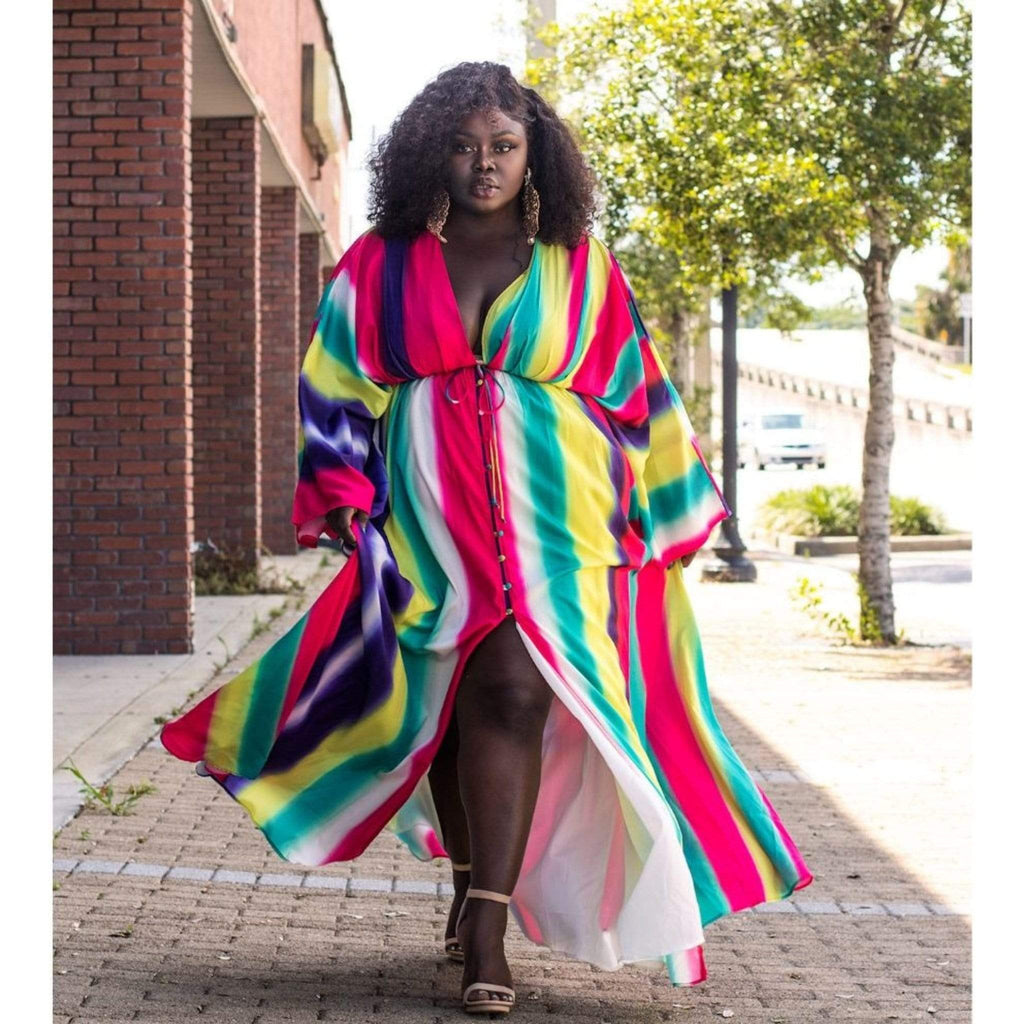 Nia Maxi Dress (Plus Size Only) - Amthyst Co.