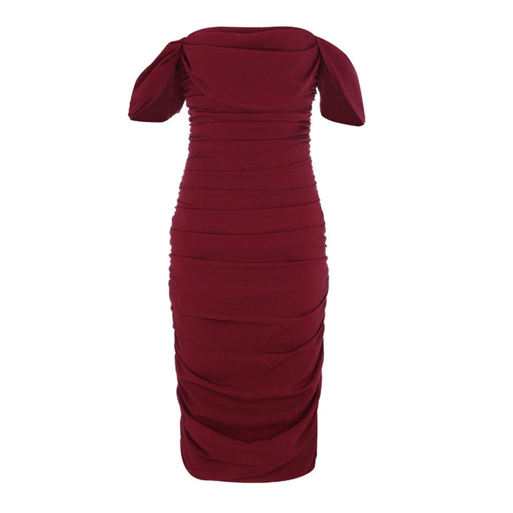 Ruby Ruched Dress - Amthyst Co.