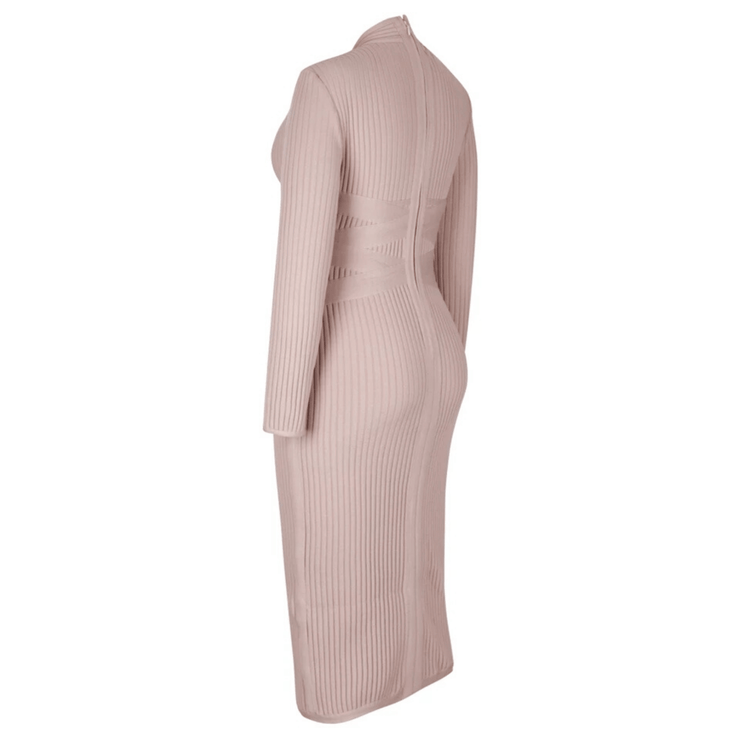 Norah Bandaged Midi Dress