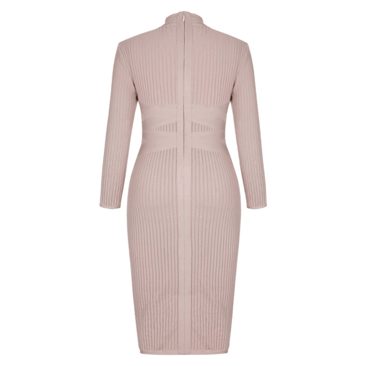 Zipped Desert Rose Fitted Dress