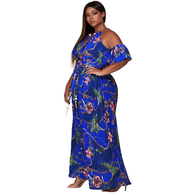 off shoulder maxi dress plus size