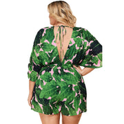 plus size romper shorts