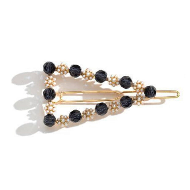 Bead and Pearl Triangle Hair Clip