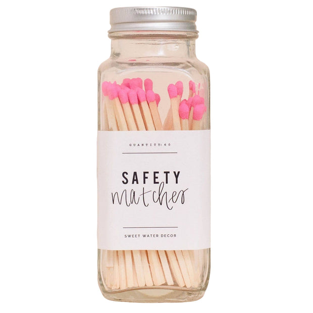 pink safety matches