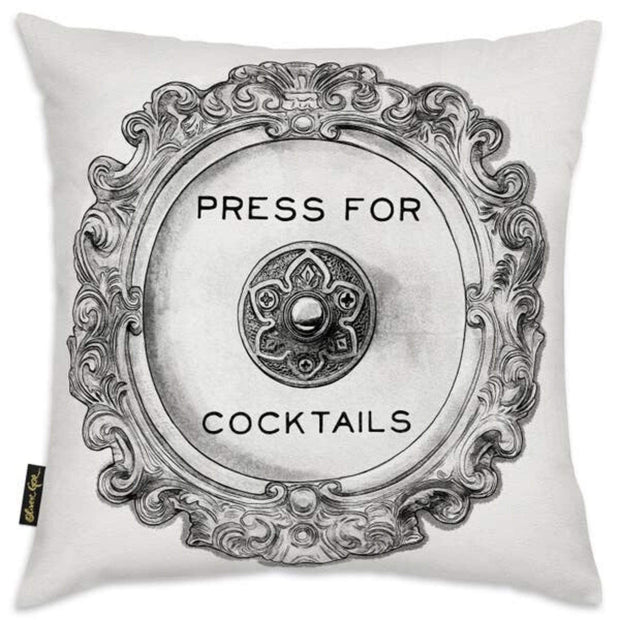 Oliver Gal 'Press For Cocktails Pillow