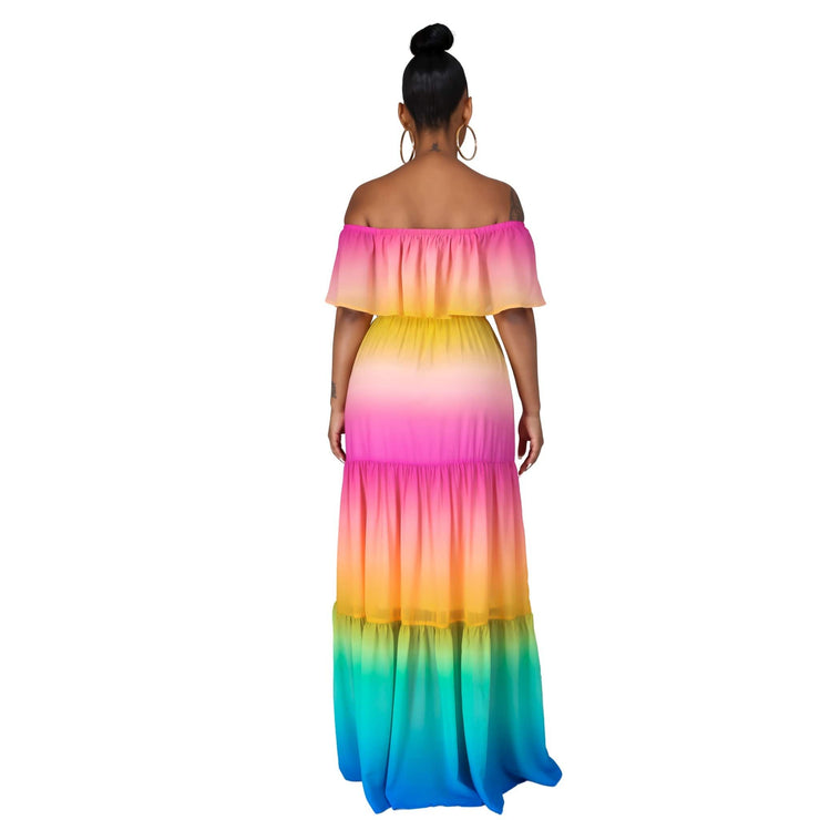 Mia Rainbow Maxi Dress