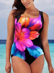 Women's Floral Printed One Piece Swimsuit Swimwear