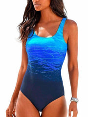 One Piece Sexy Women Fashiong Printed Beach Swimwear One Piece Swimsuits Backless Bathing Suits