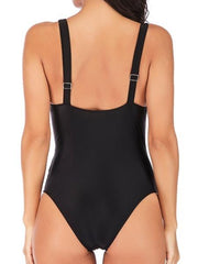 Women Spaghetti Strap One Piece Swimwear