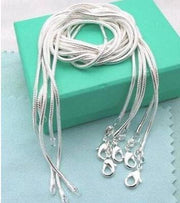 10PCS Wholesale 925 Silver 1MM Snake Chain Necklace