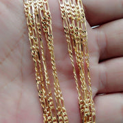 5PCS Wholesale 18K Gold Sterling Solid Chain Necklace