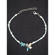 Conch Starfish Pendant Beaded Anklet Beach Anklet