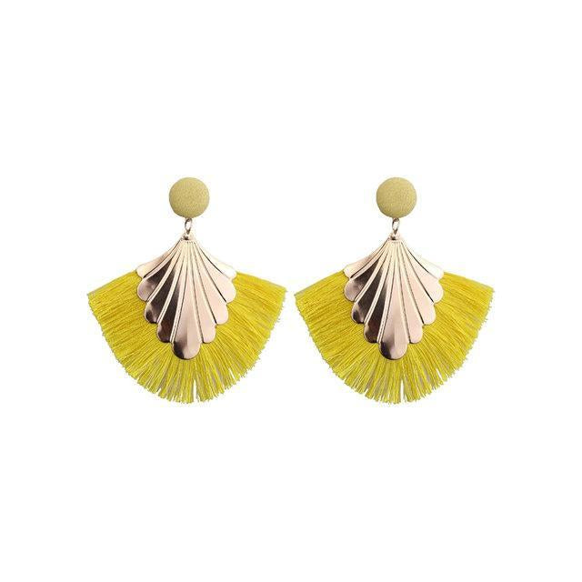 Womens Tassel Fashion Leaf Shape New Earrings