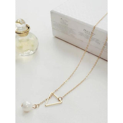 Women Necklaces Pearl Simple Adjustable Necklaces