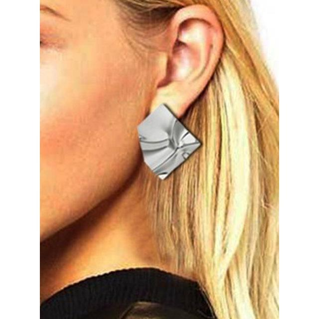 New simple irregular block metal texture sequins fashion earrings